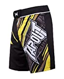 TapouT Men's Performance MMA Shorts Black/Yellow