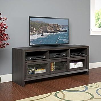 CorLiving TEK-576-B Kansas TV Bench in Modern Wenge Finish