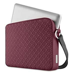 Belkin Quilted Elliptical Slip Carrying Case / Bag for Laptop, 10.2 Inch (Plum) by Belkin Components
