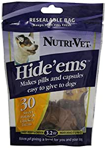 Nutri-Vet DNU99953 Hide'ems Dog Treats, Sweet Potato/Chicken Flavor, 3.2-Ounce