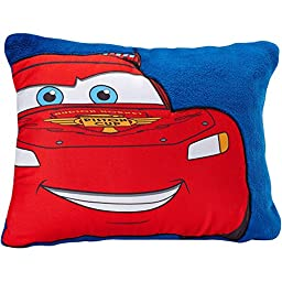 Large Applique Cars Toddler Pillow, Red