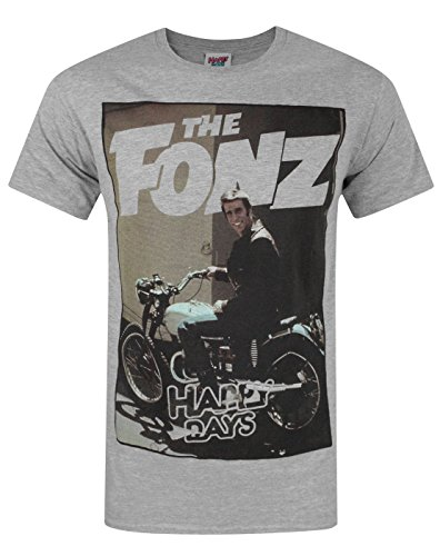 Official Happy Days The Fonz Men's T-Shirt (XXL)