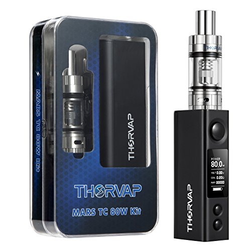Mars-80W-Electronic-Cigarette-Start-Kit-incl-Top-Filling-Sub-Ohm-Tank-02-80W-Box-Mod-Battery-with-TCVW-Function-No-Nicotine-Vape-Mods-E-cigarette-No-E-Liquid