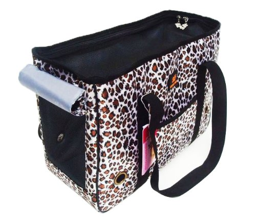 Travel Pod Mini Bag Comfort Dog/Cat Carrier Soft-Sided Pet Carrier Indoor/Outdoor Pet Home (leopard Print, 40*18*28)