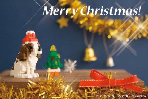 nanoblockクリスマスカード (キャバリア) ヨコ