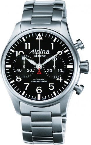 Alpina Geneve Startimer Chronograph 860B4S6B Automatic Chronograph for Him Alpina Rotor