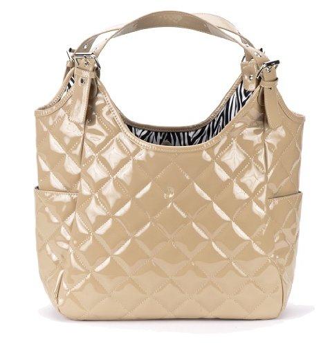 JP Lizzy Satchel Designer Diaper Bag - Crema - 1