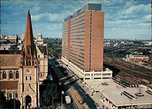 looking-to-st-pauls-and-princes-gate-building-melbourne-australia-original-vintage-postcard