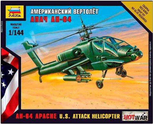 Zvezda - Z7408 - Maquette - Aviation - Hélicoptère Apache