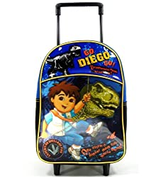 "Nick Jr. Go Diego Go 12"" Toddler Rolling Backpack - Dinosaur"