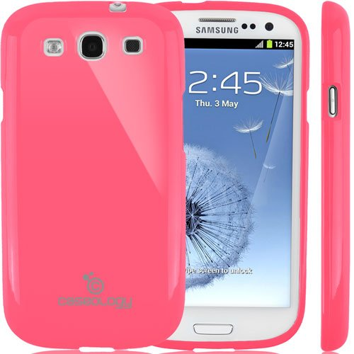 Galaxy S3 Case, Caseology [Drop Protection] Samsung Galaxy S3 Case [Hot Pink] Slim Fit Tpu Cover [Shock Absorbent] Armor Bumper Galaxy S3 Case [Made In Korea] (For Samsung Galaxy S3 Verizon, At&T Sprint, T-Mobile, Unlocked) front-708633