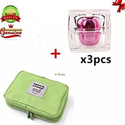Sealive Hanging Toiletry Bag for Women Makeup AND Men Travel Shaving Kit with 3 PCS Sample Bottle (green)