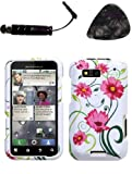 Mobile accessories MOTOROLA MB525 (Defy) Lovely Flowers Phone Protector Cover Design Snap on Hard Shell Faceplate AND HiShop(TM) Stylus, Guitar Pick/Pry Tool