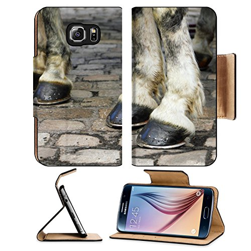msd-premium-samsung-galaxy-s6-edge-flip-pu-leather-wallet-case-image-with-two-pair-of-white-horse-ho