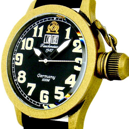 [トーチマイスター1937]Tauchmeister1937 腕時計 ドイツ製2戦ドイツU-BOOT潜艦復刻 500M防水BIG-DATE T0105  (並行輸入品)