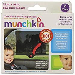 Munchkin Cling White Hot Pop Open Shade Black, Pack of 2