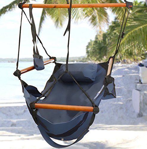 Hammock-This is the hammock chair-patio furniture-Color Blue-Durable long lasting weather resistant construction-Swing holds up to 250 lbs-Perfect for indoor or outdoor use-100% Thrilled Customer Guarantee!