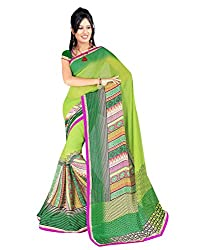 Sailaxmi Fashion Women's Floral Silk Saree(SLFS008_Multi-Coloured)