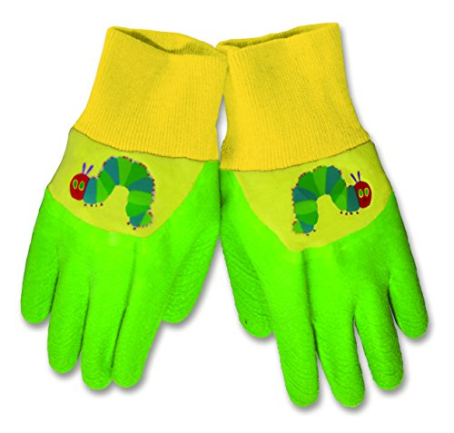 World of Eric Carle, The Very Hungry Caterpillar Latex Dipped Gardening Gloves by Kids Preferred - 1