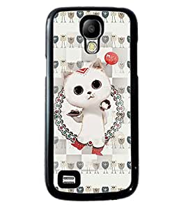 Printvisa 2D Printed Cat Designer back case cover for Samsung S4 Mini - D4266