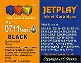 1 x T0711 - JETPLAY Maximum Ink Capacity Compatible Cartridge for Epson Stylus D78 D92 D120 DX4000 DX4050 DX4400 DX4450 DX5000 DX5050 DX6000 DX6050 DX7000F DX7400 DX7450 DX8400 DX8450 DX9400P S20 SX100/SX105 SX200 SX205 SX400 SX405 SX600FW Office B40W BX
