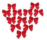 (スマイル ワキキ)Smile YKK 可愛い クリスマスオーナメント レッド リボン クリスマス 蝶結び クリスマス ツリーオーナメント ツリーのデコレーション パーティー飾り(12個入り)