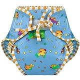 Kushies Swim pañal, peces impresión, Grande Color: Tamaño Peces de impresión: Grande infantil, bebé, niño