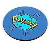 PosterGuy Comic Design Comic, Baaam, Colorful, Blue, Popart Fridge Magnet