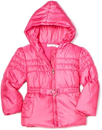 (凑单)Amy Byer Outerwear Toddler Girls Irridescent粉色大童连帽夹克 $11.3