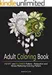 Adult Coloring Book: Heart and Flower...