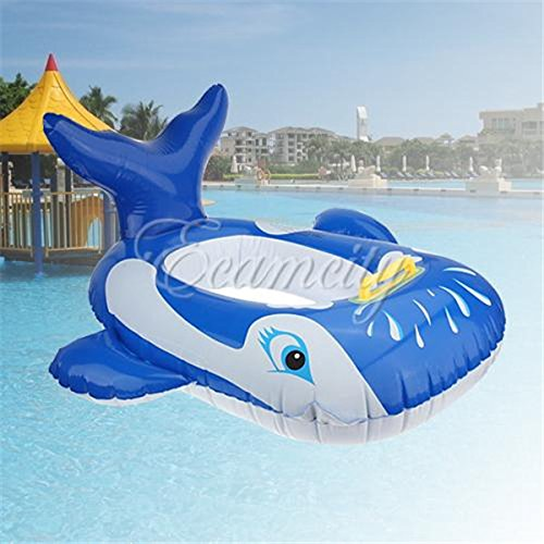Blue Cute Whale Shape Baby Swim Ring Float Child Infant Water Pool Toy Swimming Laps Kids