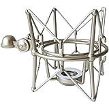 KEEPDRUM MS088 Silver Mikrofon-Spinne elastische Halterung für Rode Mikrofone NT1-A Podcaster Procaster