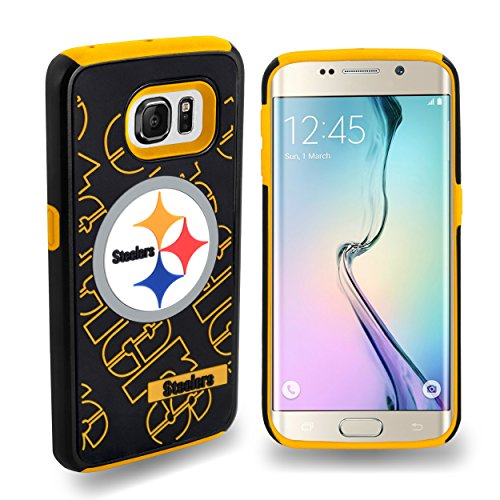 Forever Collectibles Samsung Galaxy S6 Edge Licensed NFL Dual Hybrid Case 2-Piece Pittsburg Steelers from Team Beans LLC