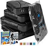 Packing Cubes Value Set for Travel - 4 Organizers With Documents Protector bag