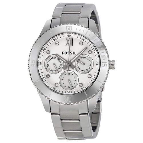 Fossil Women's ES3098 Stainless Steel Analog White Dial Watch