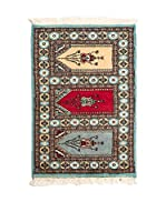 QURAMA Alfombra Kashmir Azul/Multicolor 92 x 60 cm