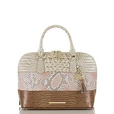 Vivian Dome Satchel<br>Pink Madera