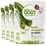 Good Goût Risotto de Courgettes au Chèvre dès 8 mois 190 g - Lot de 4