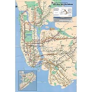 New York City Subway Map Travel Maxi Poster  61x91 Cm