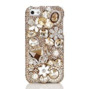 NOVA Case Glamour Bling Crystal iPhone Case iPhone 5 5/5S Crystal Floral Bag