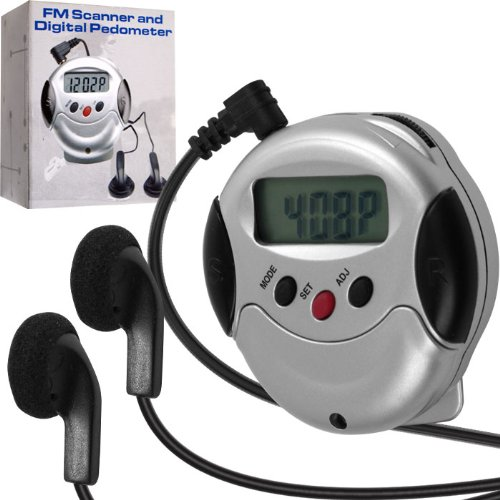 Cheap FM Radio and Digital Pedometer by Trademark (B005HVA8VS)