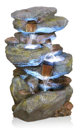 Cascade Chute d'Eau Bekko 3 Niveaux avec Eclairage LED