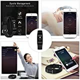 Yuntab-Heart-Rate-Monitor-Sleep-Monitor-Fitness-Tracker-C5-Smartband-with-OLED-Display-Bluetooth-42-Waterproof-Support-iOS-80-Android-44-above-Version-C5-Black