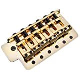 Fender Vintage-Style Strat Bridge Assembly with 2-3/16-Inch Spacing - Gold (Color: Gold)