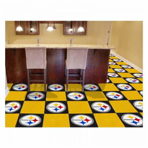 "Pittsburgh Steelers Carpet Tiles 18""x18"" tiles at Amazon.com"