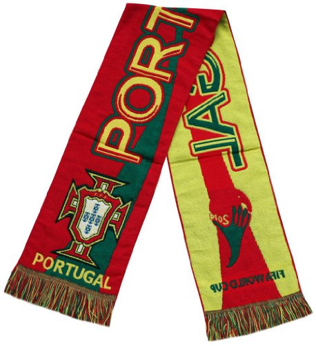 Portugal 2014 Worldcup Football Jacquard Scarf - Multicolour (Size: One Size) at Amazon.com