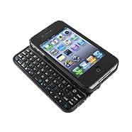 iBUFFALO Bluetooth2.0コンパクトキーボード iPhone4S/4 両対応 ケース一体型モデル ブラック BSKBB07BK