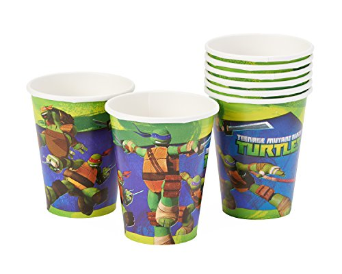Sale!! Teenage Mutant Ninja Turtles 9oz Paper Party Cups, Pack of 8, Party Supplies