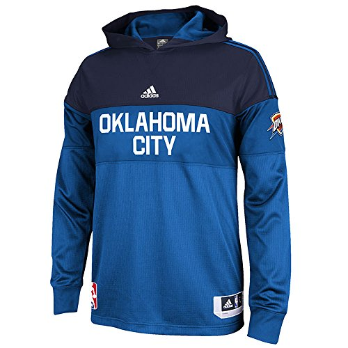 Oklahoma City Thunder Adidas 2014-15 on Court Long Sleeve Shooting Jersey