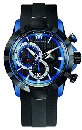 technomarine-swiss-herren-armbanduhr-quarzuhrwerk-chronograph-schwarzes-zifferblatt-analog-display-u